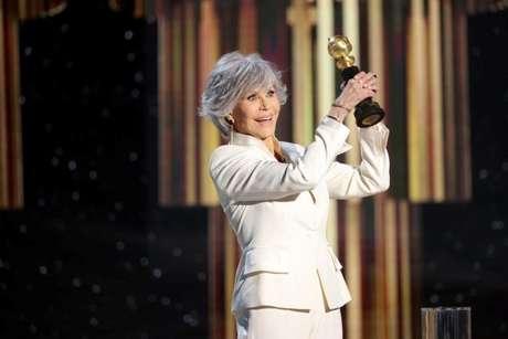 Jane Fonda ganhou o troféu Cecil B DeMille por sua carreira artística