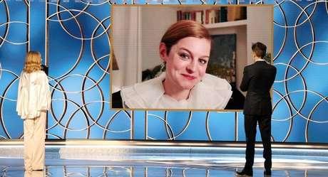 """Emma Corrin ganhou por sua interpretação da princesa Diana em """"The Crown"""""""
