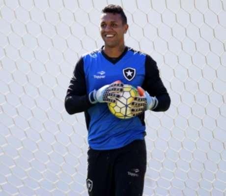 Sidão em treino do Botafogo (Foto:Vitor Silva/SSPress/Botafogo)