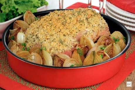 Guia da Cozinha - Jantar especial com pernil com crosta crocante