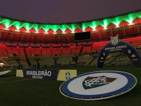 Maracanã em dia de jogo do Fluminense pelo Campeonato Brasileiro (Foto: Reprodução/Twitter)