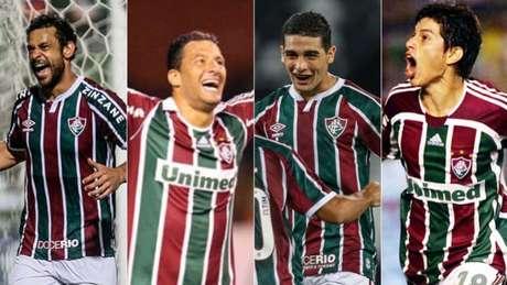 Fred com Washington e Michel Araújo com Conca? Torcedor faz comparação (Foto: Divulgação/Fluminense; Acervo Lance!)