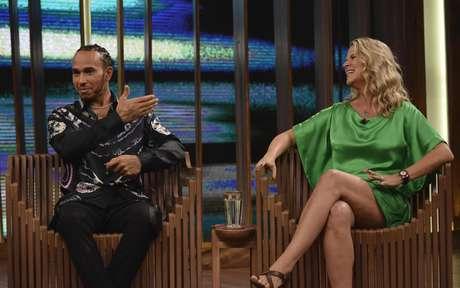 Mariana Becker participou da entrevista de Lewis Hamilton no programa de Pedro Bial