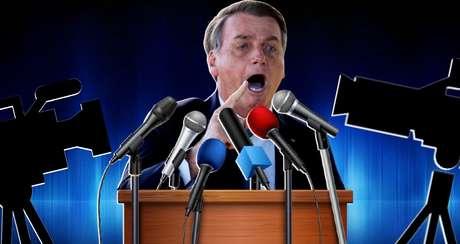 Criticar, xingar e bater boca com jornalistas faz parte da rotina do presidente Bolsonaro