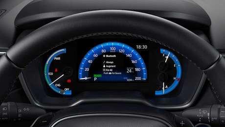 Quadro de instrumentos digital de 7'' será exclusivo da versão XRX do Toyota Corolla Cross.