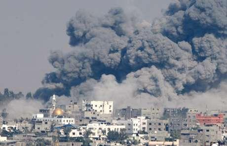 Ataque ocorrido na Faixa de Gaza  29/07/2014 REUTERS/Suhaib Salem