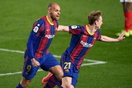 Braithwaite marcou o gol da classificação na prorrogação (JOSEP LAGO / AFP)