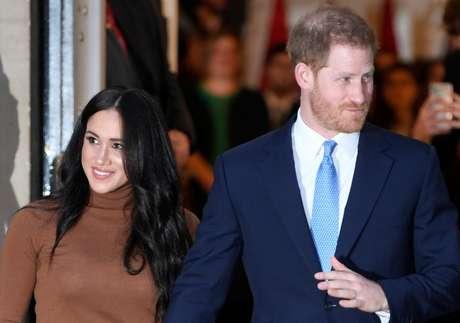 Príncipe Harry e Meghan, duquesa de Sussex 07/01/2020 REUTERS/Toby Melville