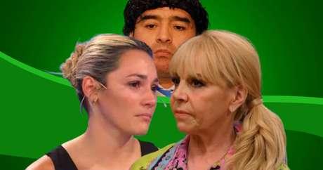 'Viúvas' de Maradona, as inimigas Rocío Oliva e Claudia Villafañe usam a mídia para atacar e se defender
