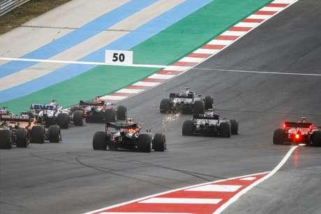 A largada do GP de Portugal de 2020