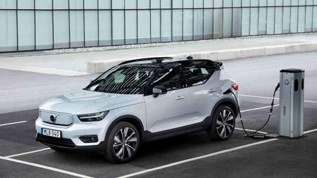 Volvo XC40 Recharge Pure Electric: marca sueca é forte na eletrificação.