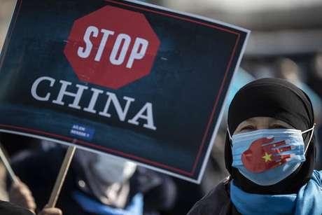 Protestos ao redor do mundo criticam políticas da China contra minoria muçulmana uigur