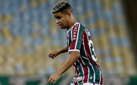 Miguel, em partida contra o Atlético-GO pela Copa do Brasil, no Maracanã (Foto: Lucas Merçon/Fluminense FC)