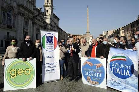 Lançamento da candidatura de Vittorio Sgarbi a prefeito de Roma