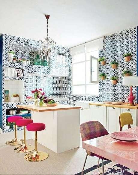 26. Azulejo retro na cozinha moderna – Foto Pinterest