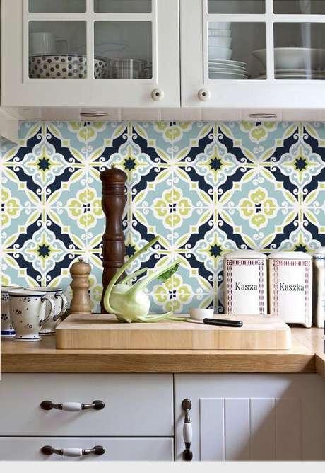 51. Adesivo com azulejo retro colorido – Foto Etsy