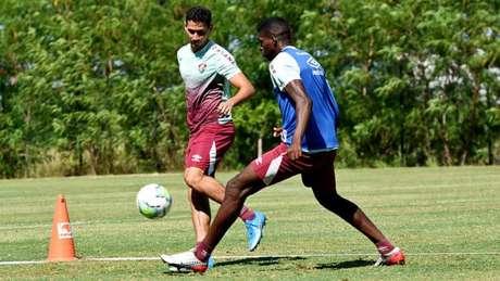 Ganso, durante treino do Fluminense (Foto: MAILSON SANTANA/FLUMINENSE FC)