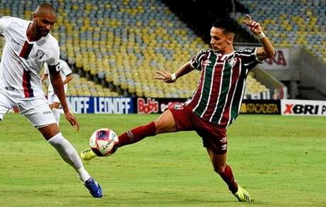 Gabriel Teixeira, durante a partida entre Fluminense e Resende (Foto: Mailson Santana/Fluminense FC)
