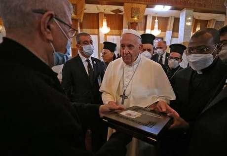 Papa Francisco se reuniu com religiosos em catedral sírio-católica de Bagdá