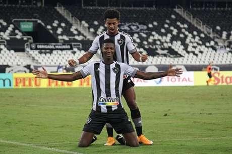 Matheus Babi marcou duas vezes contra o Resende (Foto: Vítor Silva/ Botafogo)