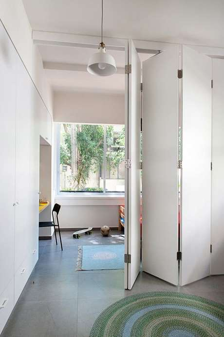 4. Porta para quarto branca camarão – Foto Design Milk