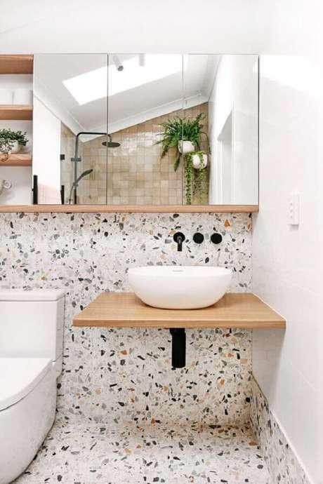 48. Espelheira para banheiro decorado com marmorite – Foto We Heart It