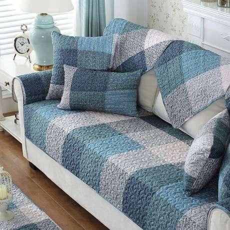 19. Capa para sofá em tons de azul – Foto AliExpress