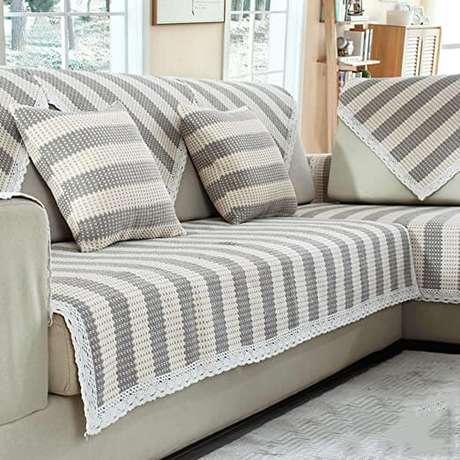11. Capa de sofá feita de crochê – Foto Amazon