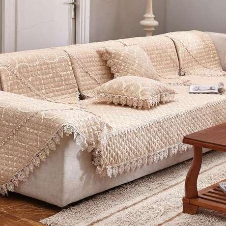 48. Capa de sofá de crochê – Foto Pinterest