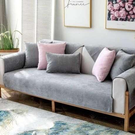 2. Capa de sofá cinza impermeável – Foto Da Chine Promo
