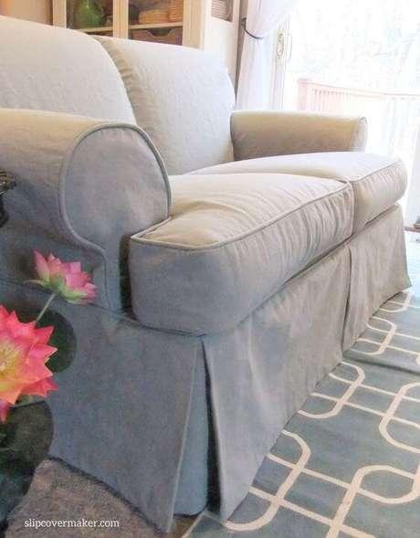 20. Capa para sofá feito sob medida na cor cinza Foto Slipe over maker