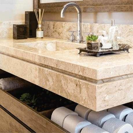 1. A bancada de mármore pode trazer um ar sofisticado para a sua decoração – Foto Pinterest