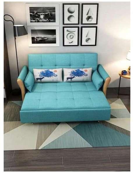 6. Capa de sofá azul retrátil – Foto Amazon