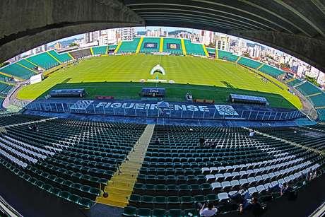 Vista do Estadio Orlando Scarpell, em Santa Catarina
