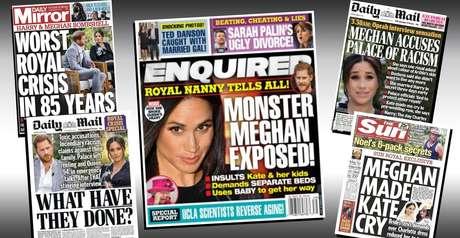 Os jornais que antes paparicavam Meghan passaram a publicar críticas e fofocas e agora exploram sua exclusão da família real