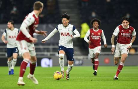No último duelo, Son foi um dos destaques do Tottenham (GLYN KIRK / POOL / AFP)