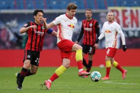 RB Leipzig e Frankfurt marcaram apenas na segunda etapa (RONNY HARTMANN / AFP / POOL)