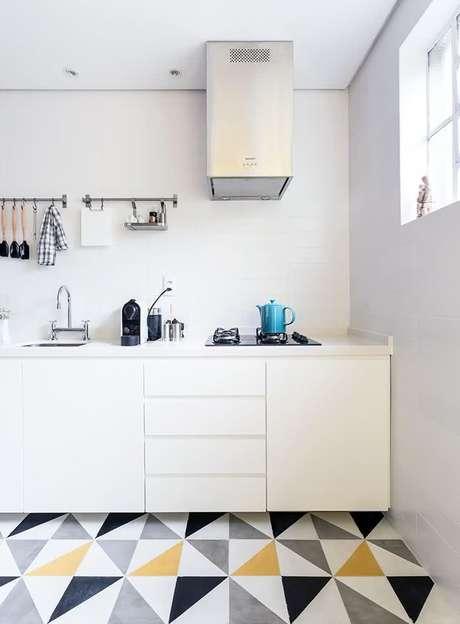 18. Cerâmica para cozinha com formato geométrico – Foto Pinterest