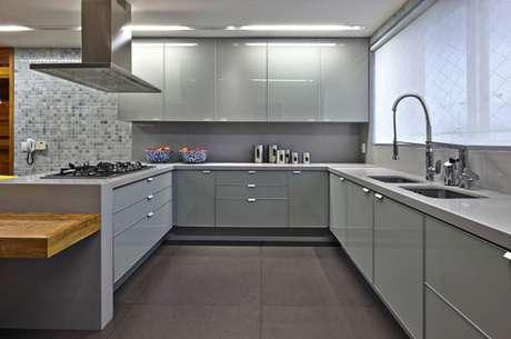 16. Cerâmica para cozinha cinza – Foto Cerâmica Bugina