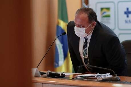 Ministro da Saúde, Eduardo Pazuello, concede entrevista coletiva em Brasília 15/03/2021 REUTERS/Ueslei Marcelino