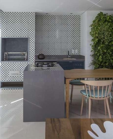 20. Cerâmica para cozinha com padrões geométricos – Foto In House