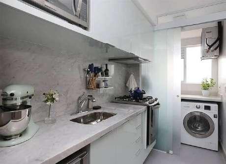 66. Cerâmica para cozinha com lavanderia -Limaonagua