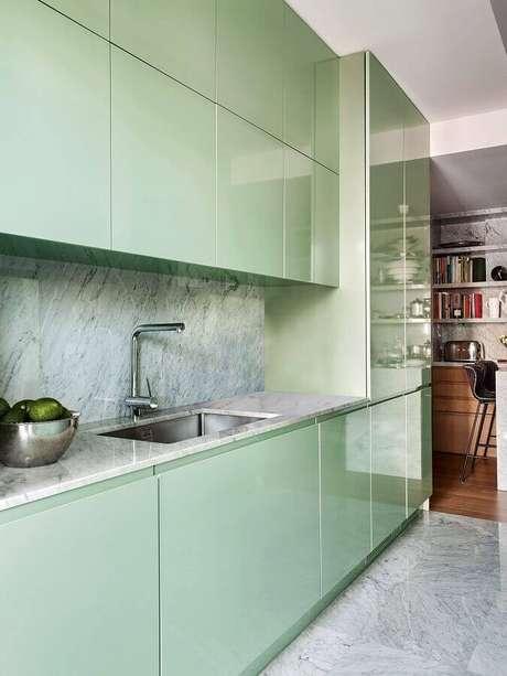 72. Cerâmica para cozinha que imita granito – Foto Pinterest