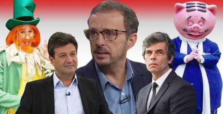 Octavio Guedes (ao centro) comparou Mandetta ao Visconde de Sabugosa e Teich ao Marquês de Rabicó