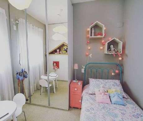 55. Nicho casinha para decoração de quarto infantil feminino pequeno – Foto Estúdio AE