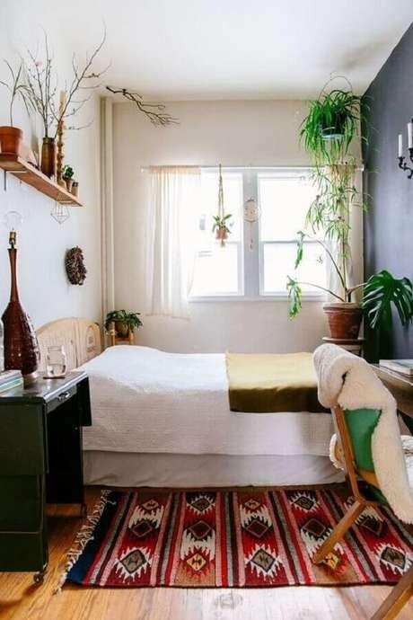 5. Vasos de plantas para decoração de quarto feminino pequeno simples – Foto Apartment Therapy