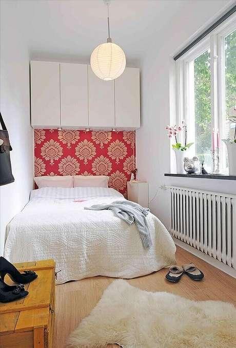 50. Decoração simples para quarto feminino pequeno – Foto Pinterest
