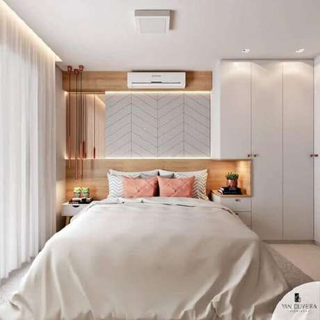 40. Modelo de guarda-roupa com cama embutida super moderna. Fonte: Yan Oliveira