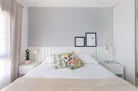 34. Cores claras para decoração de quarto feminino pequeno – Foto Pinterest