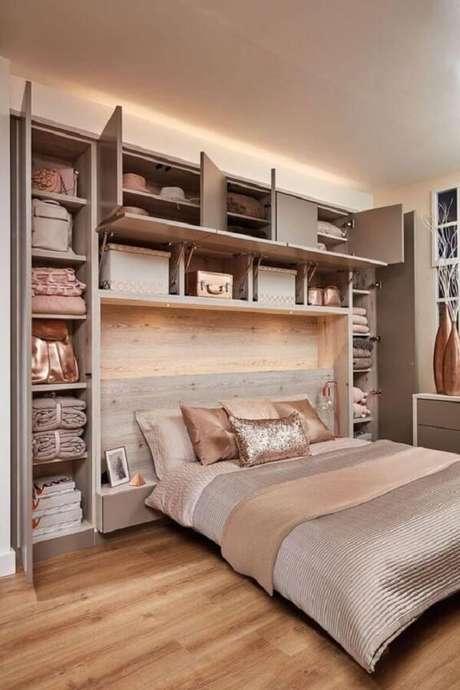 2. Guarda-roupa com cama embutida planejado: organize acessórios dentro do móvel. Fonte: Revista VD